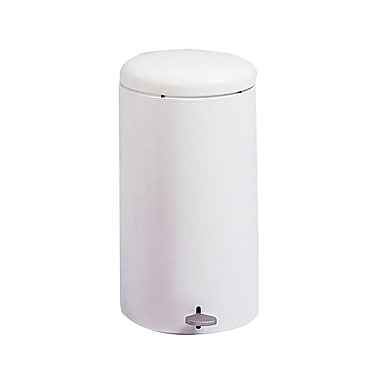 Safco Step-On Waste Receptacles, Fire-safe, 7 gal.