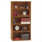 Bush Business Westfield 36W 5 Shelf Bookcase, Natural Cherry/Graphite Gray