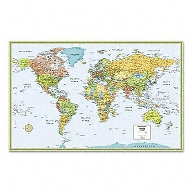 Rand McNally Laminated World Wall Map 50