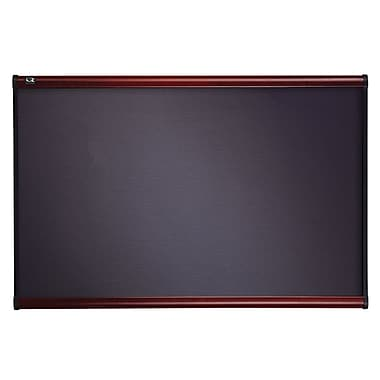 Quartet® 3' x 2' Prestige® Gray Diamond Mesh Fabric Bulletin Board with Mahogany Finish Frame