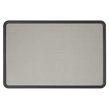 Quartet® 4' x 3' Contour® Gray Fabric Bulletin Board with Graphite Plastic Frame