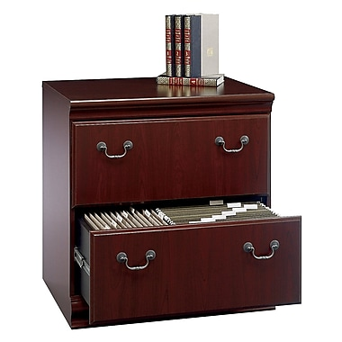 Bush Furniture Birmingham Lateral File, Harvest Cherry