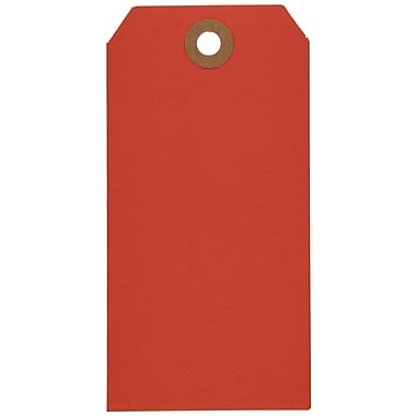 Staples® Red Shipping Tags, #5, 4-3/4
