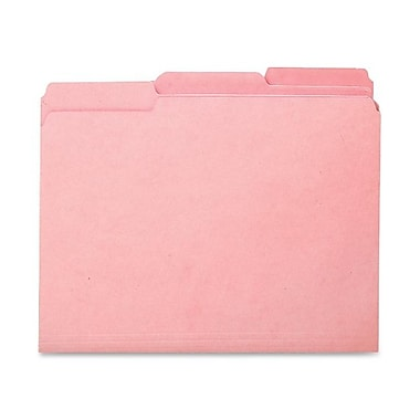 Smead® Interior File Folder, 1/3-Cut Tab, Letter Size, Pink, 100/Box (10263)