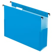 "Pendaflex® SureHook® Reinforced Hanging Box Files, 3"" Expansion, Letter Size, 1/5-Cut Tabs, Blue, 25/Box (59203)"