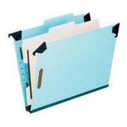 Pendaflex® Hanging Classification Folders, Top Tab, 1 Divider, Letter Size, Light Blue, 10/Box (59251)