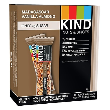 KIND® Madagascar Vanilla Almond Bar, 1.4 oz., 12 Bars/Bx