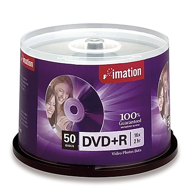 Imation 50/Pack 16X 4.7GB DVD+R, Spindle