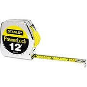 Powerlock® Mylar® Polyester Single Side Measuring Tape, 12 ft (L) x 1/2 in (W) Blade, inch