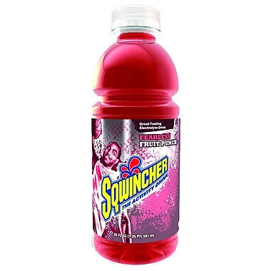 Sqwincher® 20 oz Yield Liquid Concentrate Ready-To-Drink Energy Drink, 20 oz Bottle, Fruit Punch