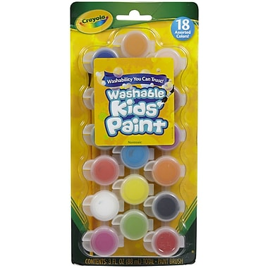 Crayola® Kids Washable Poster Paint-Pots, 18/Pack