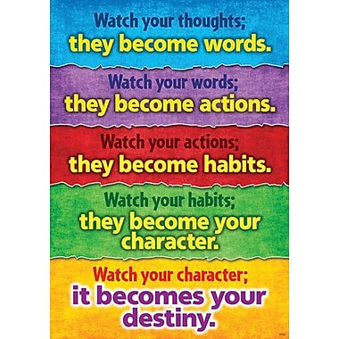 Trend Enterprises Argus TA-67396 Watch Your Thoughts Poster