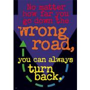 Trend Enterprises® ARGUS® Poster, No Matter How Far You Go Down The Wrong
