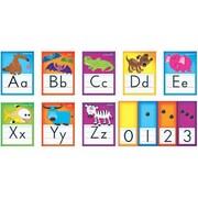 Trend Enterprises® Bulletin Board Set, Awesome Animals Alphabet Cards (Standard Manuscript)