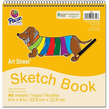 Pacon® Art Street® White Drawing Paper Pad, 9