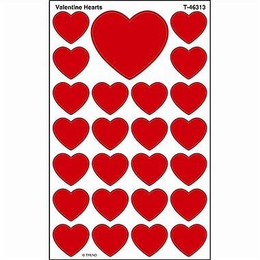 Trend Enterprises® SuperShapes Stickers, Valentine Hearts