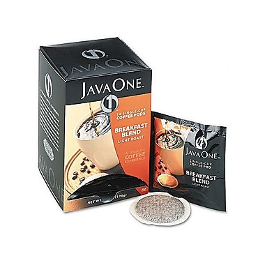 Java One® Single Cup Breakfast Blend Ground Coffee, Regular, .3 oz., 14 Pods