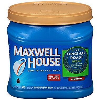 Maxwell House® Original Roast Ground Coffee, Decaffeinated, 29.3 oz. Can