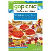 GoPicnic® Ready-To-Eat-Meals, Turkey Pepperoni + Cheese, 3 oz. Packs, 6 Packs/Box