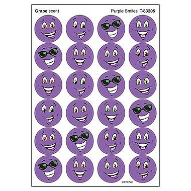Trend Enterprises® Stinky Stickers, Purple Smiles/Grape