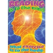 Trend Enterprises® ARGUS® Poster, Reading Is To The Mind What Exercise Is To The Body