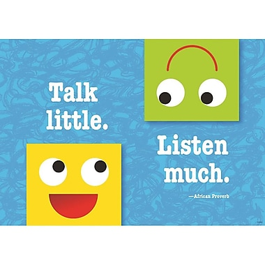 Trend Enterprises® ARGUS® Poster, Talk Little Listen Much