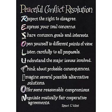 Trend Enterprises® ARGUS® Poster, Peaceful Conflict Resolution