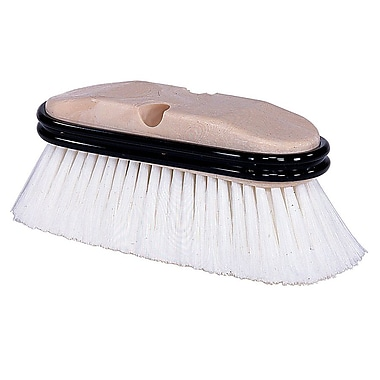 Weiler 804-44510 Truck Wash Brush, Flagged White Polystyrene Bristle