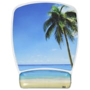 3M™ Designer Gel Mouse Pad with Wrist Rest, Beach Design