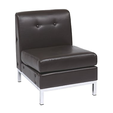 Office Star Avenue Six WST51N-E34 Steel Armless Chair, Espresso