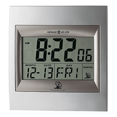 Howard Miller ®Radio Control TechTime II LCD Wall/Table Alarm Clock