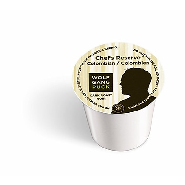 Keurig® K-Cup® Wolfgang Puck Chef's Reserve™ Columbian Coffee, Regular, 24/Pack