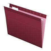 Pendaflex® Reinforced Hanging File Folders, 5 Tab Positions, Letter Size, Burgundy, 25/Box (4152 1/5 BUR)