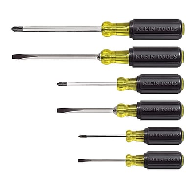 Klein Tools® 6 pcs Cushion Grip Screwdriver Set