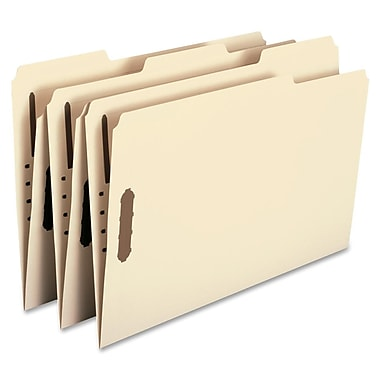 Smead® Fastener File Folders, Legal, 2 Fasteners, Reinforced 1/3- Cut Tab, Legal Size, Manila, 50/Box (19537)