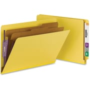 Smead® End Tab Pressboard Classification File Folder with SafeSHIELD®, Legal, Yellow, 10/Box (29789)