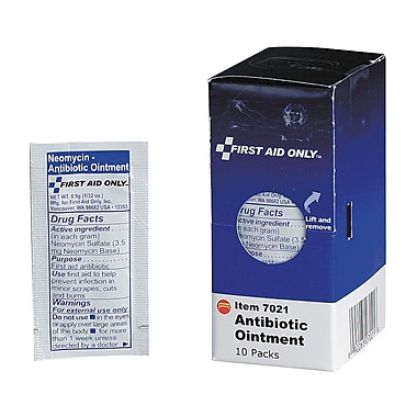 First Aid Only™ Antibiotic Ointment, SmartCompliance™ Refill, 10/Box