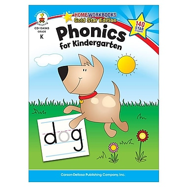 Carson-Dellosa - Brighter Child 104343 Phonics for Kindergarten Workbook