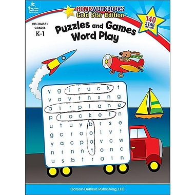 Carson-Dellosa Puzzles and Games: Word Play Resource Book, Grades K - 1