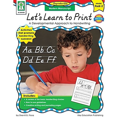 Carson-Dellosa Publishing 804005 Let's Learn to Print: Modern Manuscript Resource Book