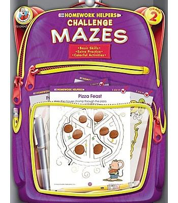 Frank Schaffer Challenge Mazes Workbook Grade 2
