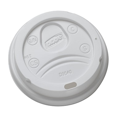 Dixie 10oz Hot Cup Dome Sip Lids, 1,000/Case (DL9540)