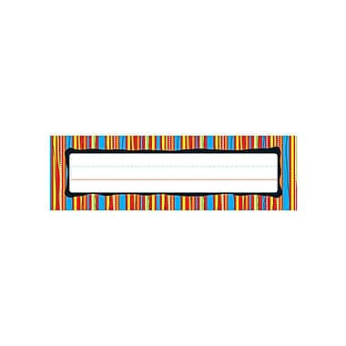 Carson-Dellosa Colorful Stripes Nameplates