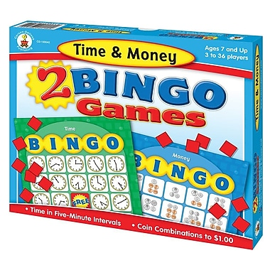 Carson-Dellosa Time & Money Bingo Board Game