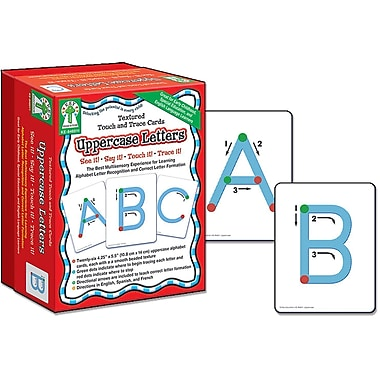 Key Education Textured Touch and Trace: Uppercase Manipulative