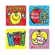 Carson-Dellosa Apples: Kid-Drawn Motivational Stickers