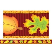 "Teacher Created Resources TCR4693 35"" x 3"" Straight Leaves Border Trim, Multicolor"