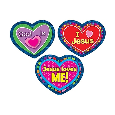 Carson-Dellosa Jesus Loves Me! Shape Stickers, 90 stickers per pack