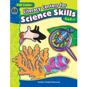 Teacher Created Resources® Literacy Centers For Science Skills Book, Grades Pre Kindergarten - 1st