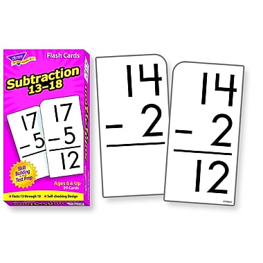 Trend Enterprises® Skill Drill Flash Cards, Subtraction 13 - 18